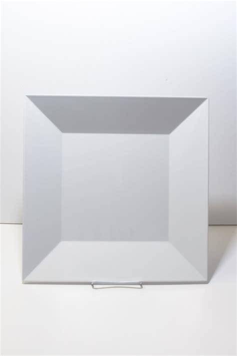 white melamine square platter   party rental