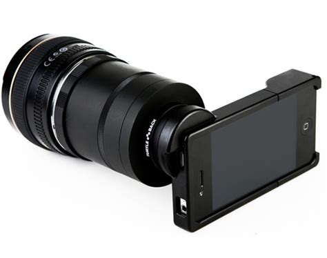 iphone dslr lens apple iphone slr lens mount adapter for canon nikon
