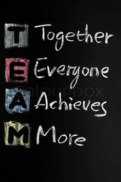 Team Acronym Written Acronyms Blackboard Chalk Colorful