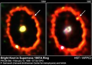 APOD: February 17, 1998 - Shocked by Supernova 1987a