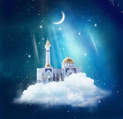 ramadan background  mosque  sky stock image image  arab islam
