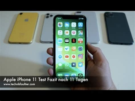 apple iphone test fazit nach tagen youtube