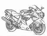 Coloring Motorcycle Pages Printable Adults sketch template