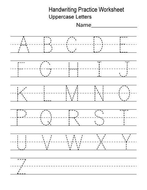 Kindergarten Worksheets Pdf Free Download Handwriting  Learning Printable  Alphabet And