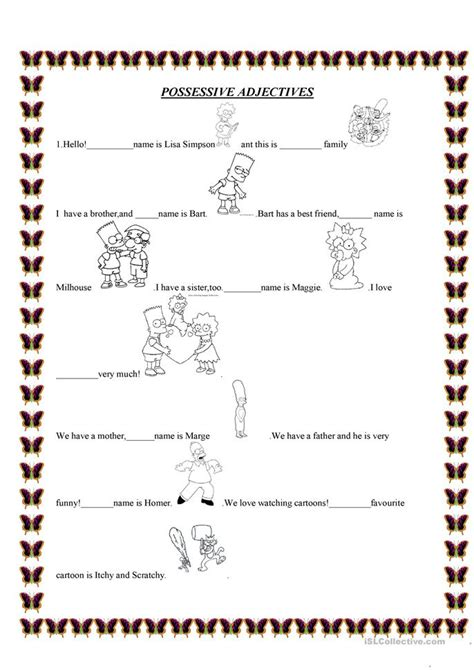 possessive adjectives worksheet free esl printable worksheets made by teachers
