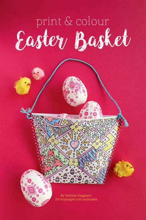 kids craft print color easter basket scrap booking