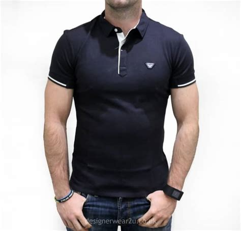 embroidered sleeve t shirt armani navy polo shirt with embroidered logo polo