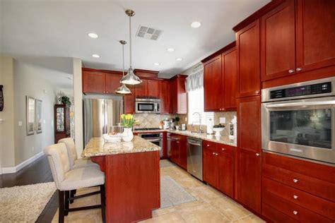 cherry wood kitchens cabinet designs ideas designing idea