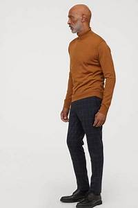 Skinny Fit Checked Pants in 2020   Men casual, Brown ...