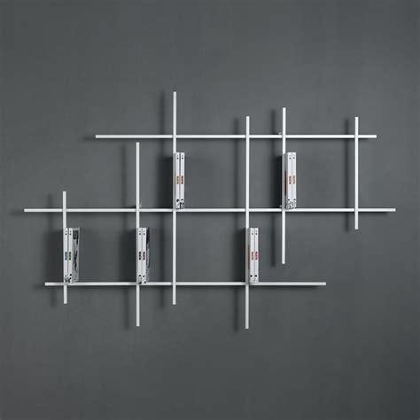 dimensions canapé étagère murale design kalou 187 115 cm métal blanc