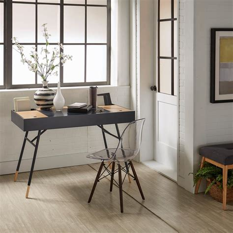 built in desk outlets homesullivan marlowe flip compartment midnight writing