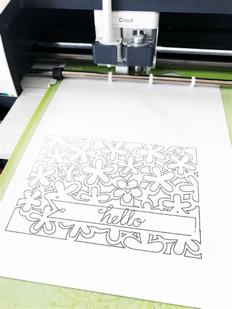draw coloring pages  cards   cricut