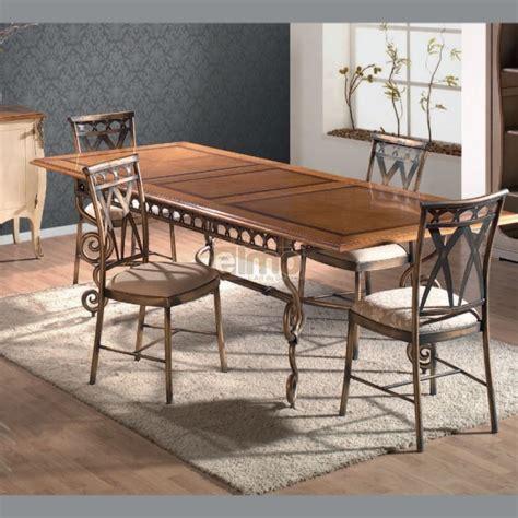 chaise bois et fer salle a manger style anglais 3 table a manger fer forge