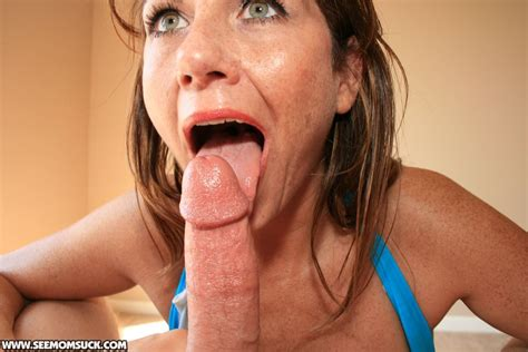 Busty MILF Blows Her Hung Neighbor Until He Explodes - SeeMomSuck - Step Mom Blowjobs