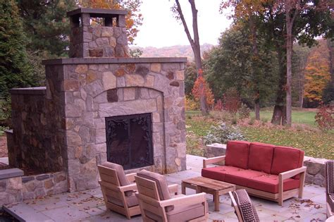 outdoor fireplace on patio in redding ct pilato s