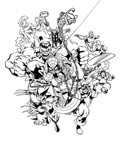 Marvel Avengers Coloring Pages Free Printable Coloring