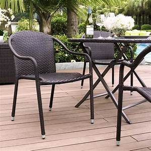 Palm, Harbor, Outdoor, Wicker, Stackable, Chairs