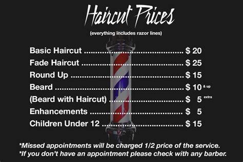 razor sharp barber shop prices