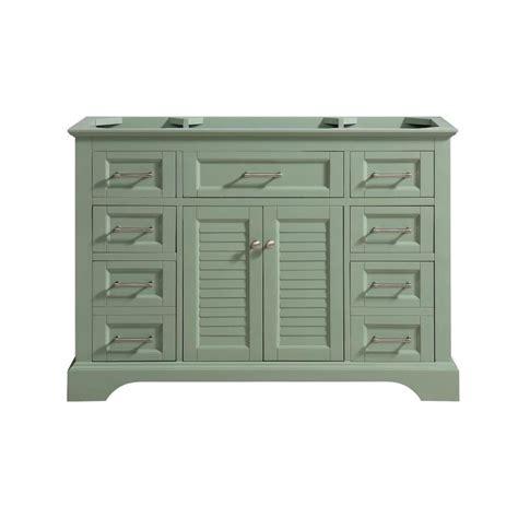 Avanity Cabinets by Avanity Colton 48 In Basil Green Bathroom Vanity Cabinet