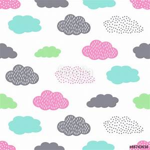 """""""Colorful seamless pattern with clouds for kids holidays ..."""