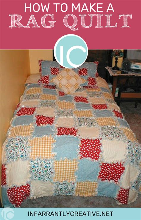 how to sew a quilt how to make a rag quilt infarrantly creative