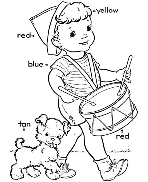 free printable kindergarten coloring pages for 381 | Kindergarten Color Pages