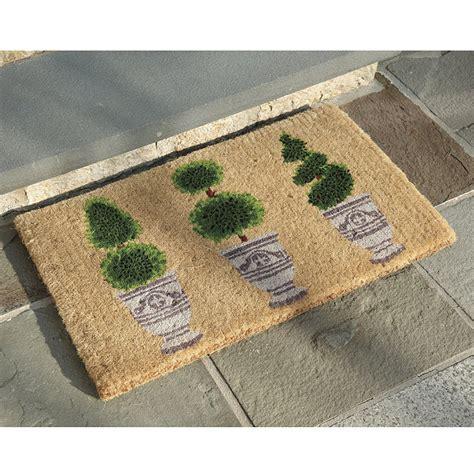 Topiary Doormat by Topiary Coir Mat Rugs Ballard Designs