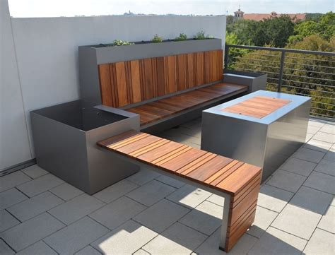 handmade outdoor seating area and custom pit by