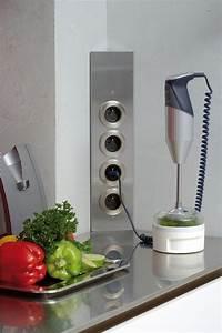 prise de cuisine bloc esquina 2 prises electriques et With prise electrique design cuisine
