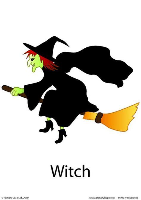 Halloween Flashcard  Witch Primaryleapcouk