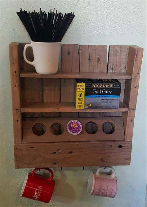 rustic coffee  tea shelf     recycled