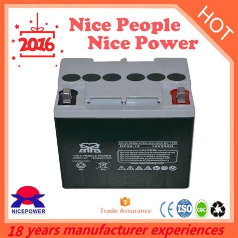 Car Battery Type For Free Maintenance 12v 24ah Storage