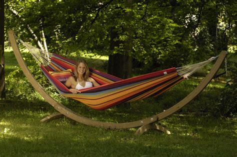 Hängematte Mit Holzgestell Teak by Xl Rainbow Hammock And Stand Garden Teak