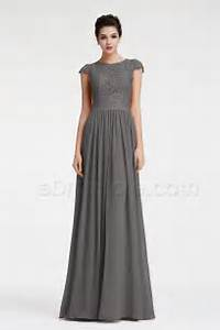 modest charcoal grey bridesmaid dresses cap sleeves With charcoal dresses for weddings