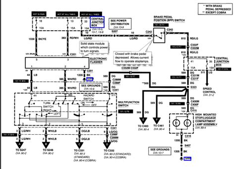 2001 Ford Mustang Wiring Diagram by We A 2001 V6 Mustang The Brake Lights Quit Working