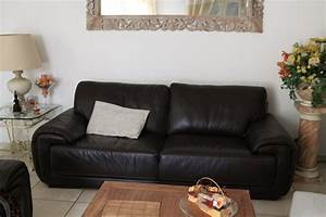 Davausnet salon moderne avec canape noir avec des for Canapé convertible scandinave pour noël decor de chambre a coucher moderne