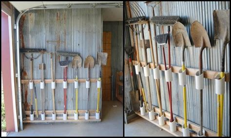 garden tool wall storage build a yard tool organizer from pvc diy projects for