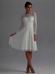 Knee length wedding dresses with sleeves naf dresses for Knee length wedding dresses with sleeves