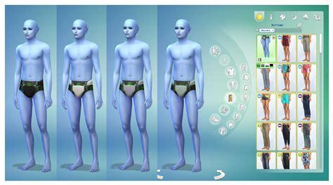 mod  sims male alien swimwear