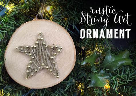 rustic string art christmas ornament  perfect rustic