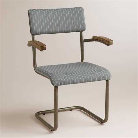 gray striped chair set of 2 world market