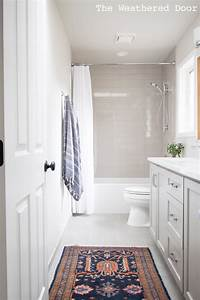 Gray, And, White, Guest, Bathroom, Reveal