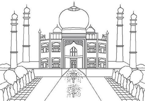 15 contoh mewarnai gambar masjid berbagai desain