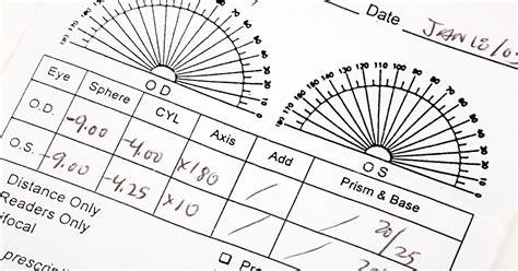 eye prescription form how to read your eyeglass prescription allaboutvision