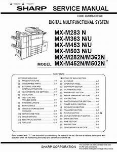 Sharp Mx M283 M363 M453 M503 Service Manual And Repair