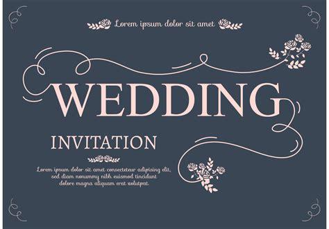 wedding invitation card   vectors clipart