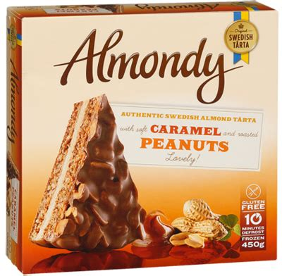 almondy cake  caramel peanuts uk frozen food