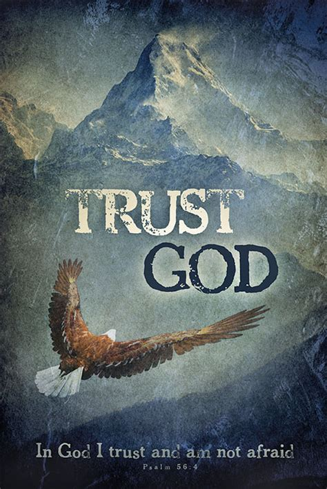 trust god christian posters religious posters bible