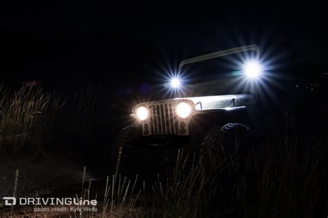 jeep headlights at night rigid industries truck lite headlight review drivingline