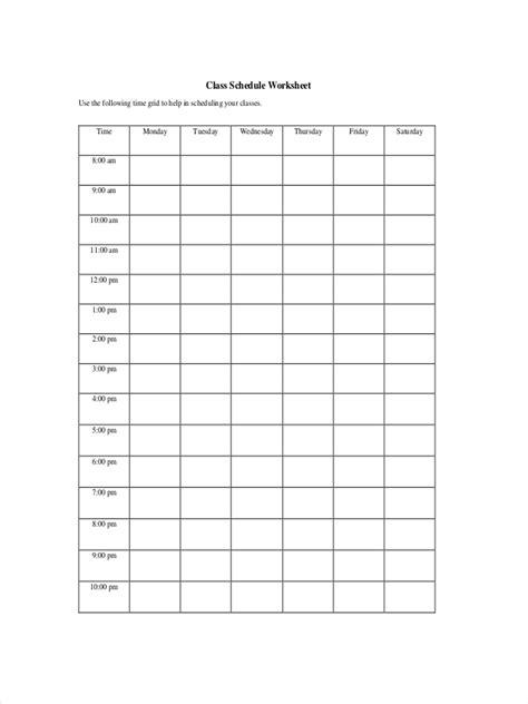 classroom schedule examples samples  google